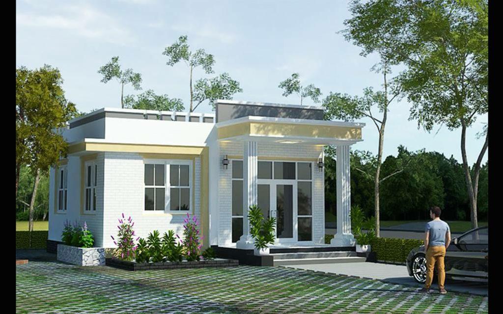Tham khảo thiết kế nhà mái bằng đẹp