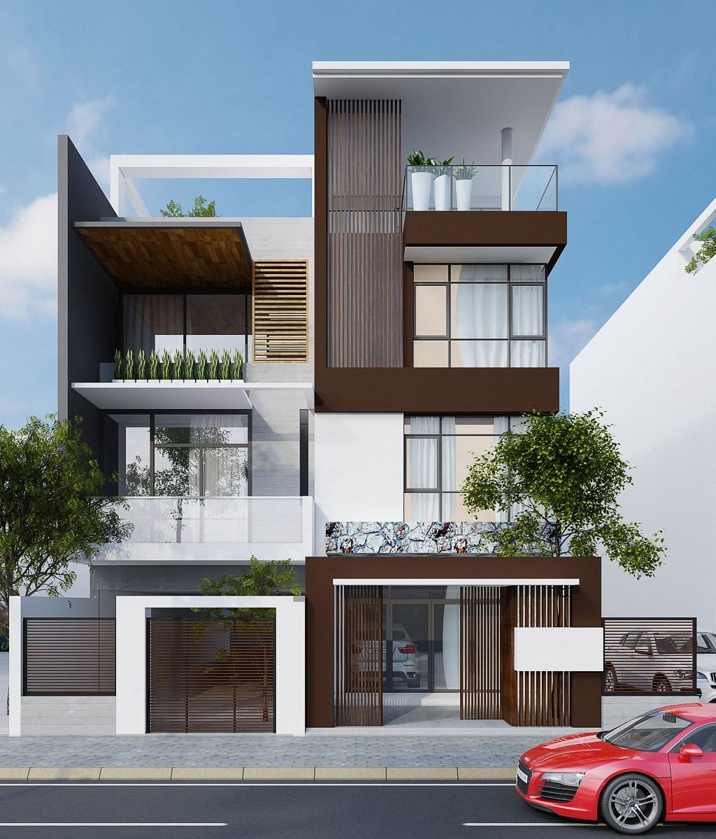 Thiết kế nhà phố mái bằng ngày càng được ưa chuộng