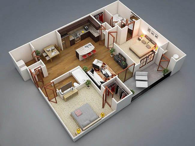 chuyên thiết kế nội thất nhà cấp 4
