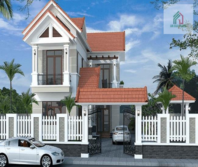 thiết kế nhà 2 tầng hình chữ l đẹp