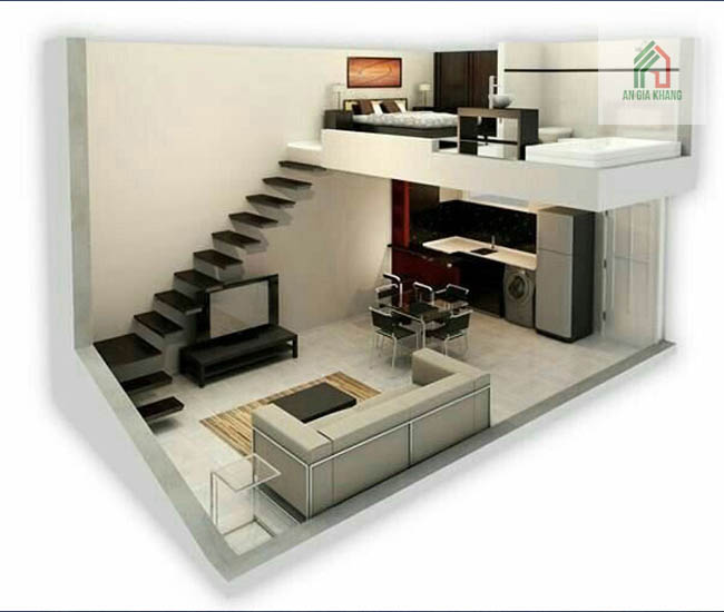 thiết kế nhà 1 tầng có gác lửng