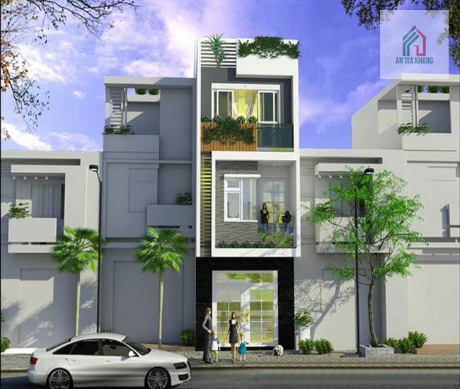 thiết kế nhà 3 tầng mặt tiền
