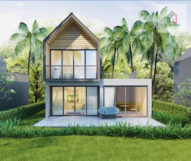 thiết kế nhà vườn 2 tầng đẹp chuyên nghiệp