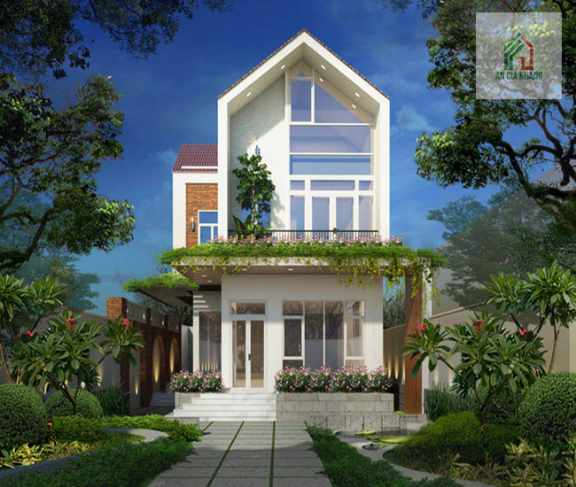 thiết kế nhà có sân vườn