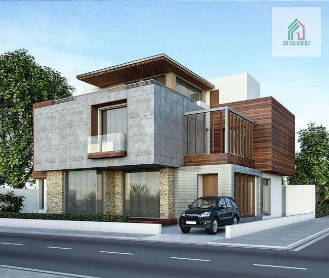xây nhà biệt thự 2 tầng uy tín