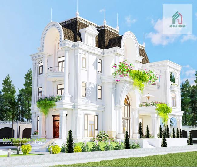xây nhà biệt thự 2 tỷ đẹp