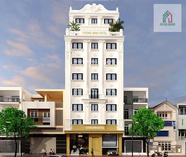 xây khách sạn mini phong cách tân cổ điển