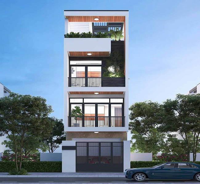 xây nhà 4 tầng đẹp đạt chuẩn