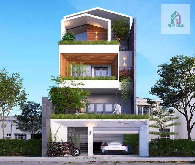 xây nhà 4 tầng đẹp